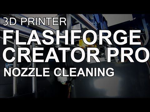 Cleaning the Extruder Drive Gear on a FlashForge Creator Pro 3D
