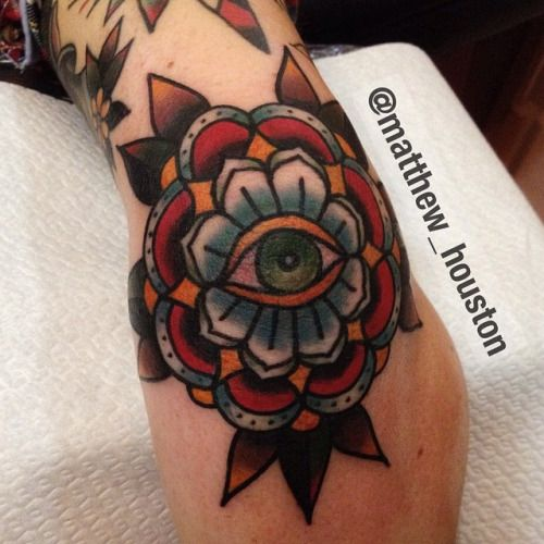 Tattoo's For > Traditional Mandala Elbow Tattoo