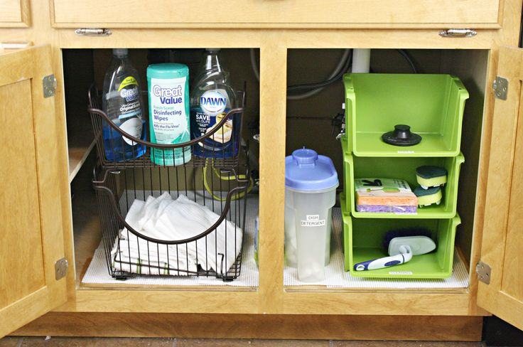 Under Kitchen Sink organizer - Small Kitchen Remodel Ideas On A Budget Check more at http://www.entropiads.com/under-kitchen-sink-organizer/