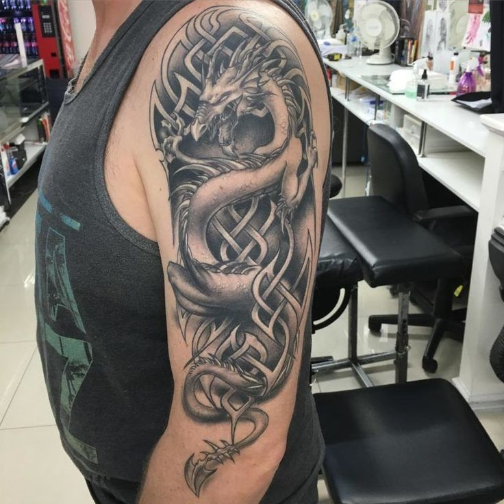 Tribal Tattoos For Guys With Meaning Celtic Dragon in 2020