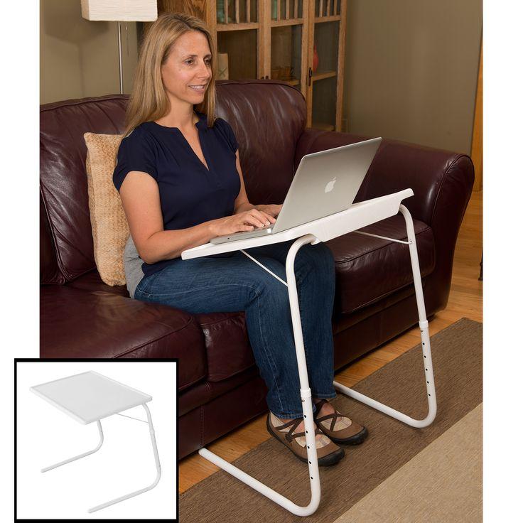 Evelots Adjustable Folding Laptop TV Dinner Table