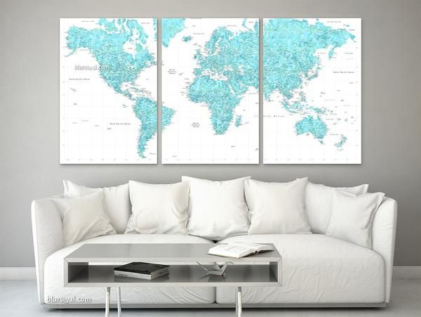 17 Best Ideas About World Map Canvas On Pinterest