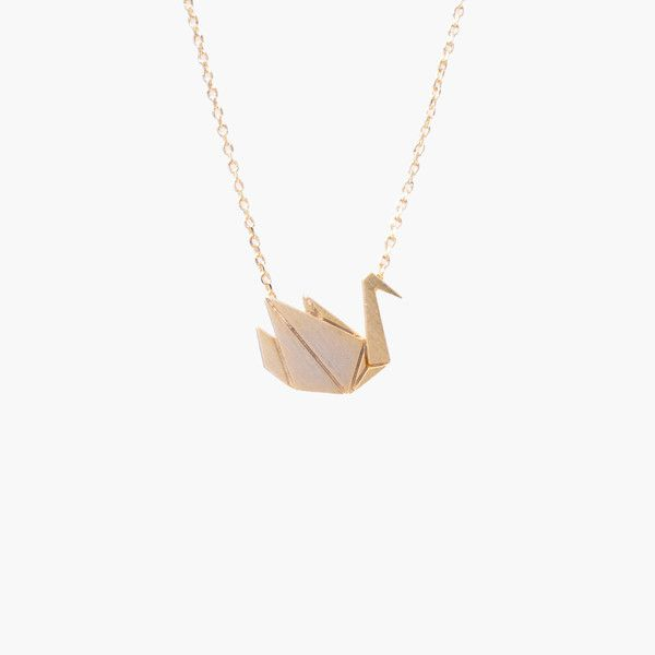 Oiseau Origami Gold Necklace