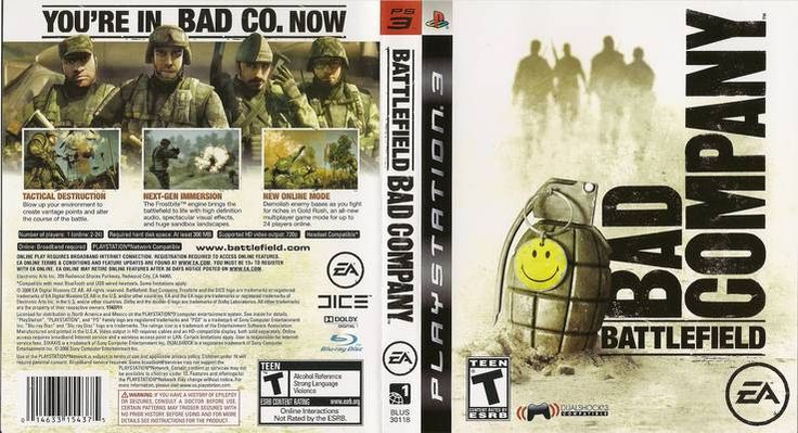 Battlefield: Bad Company (2008) R1 Front Playstation 3 Cover