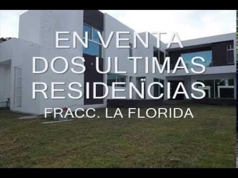 EN VENTA ULTIMAS 2 RESIDENCIAS EN FRACC. RESIDENCIAL LA FLORIDA, SAN LUIS POTOSI. SUPERFICIE APROX. 397m2 CONSTRUCCIÓN 227m2.  COCHERA PARA 4 AUTOS.  JARDÍN.  TERRAZA.  SALA Y COMEDOR.  ESCALERAS CON MADERA Y VIDRIO TEMPLADO.  COCINA INTEGRAL CON PARRILLA Y ALACENA.  ESPACIO PARA REFRIGERADOR DUPLEX.  ESTUDIO CON VISTA AL JARDÍN.  POZO DE LUZ PARA UNA  HALL TV.  3 RECAMARAS, LA PRINCIPAL CON VESTIDOR Y BAÑO COMPLETO.  2 1/2 BAÑOS.  PATIO DE SERVICIO tel 2541574