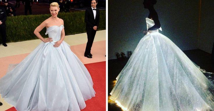 No te imaginas la sopresa que recibieron los invitados al evento del MET Gala 2016 al descubrir la luminosa magia detrás del vestido de la actríz Clarie Danes