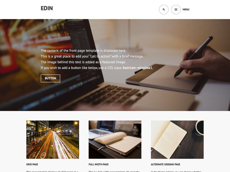 Edin — Free WordPress Themes