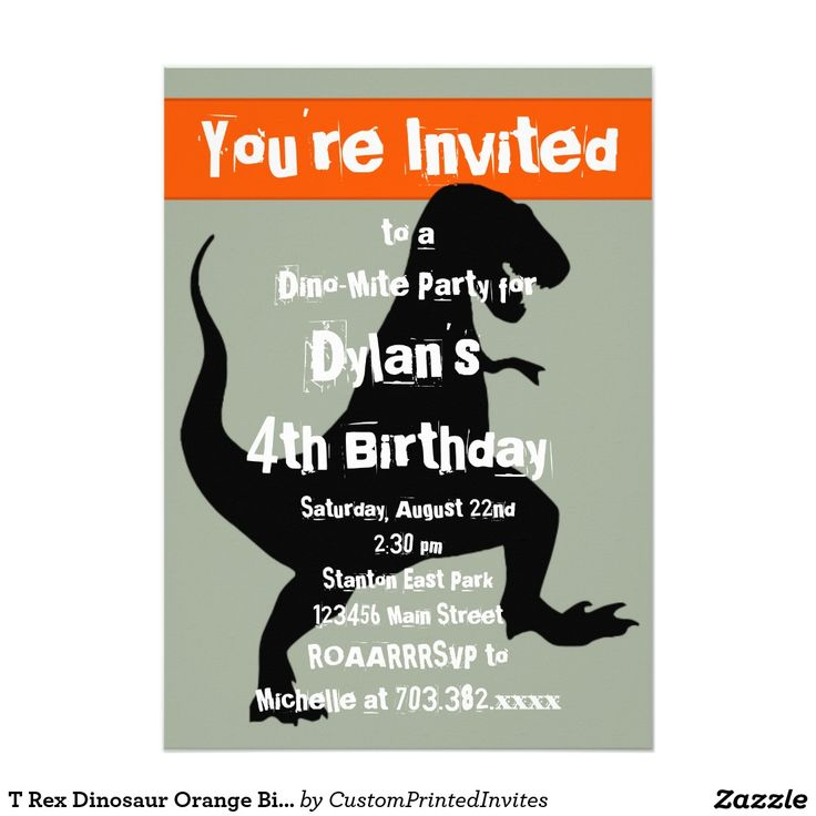 58 best Cute Dinosaur Birthday Party Invitations images on ...