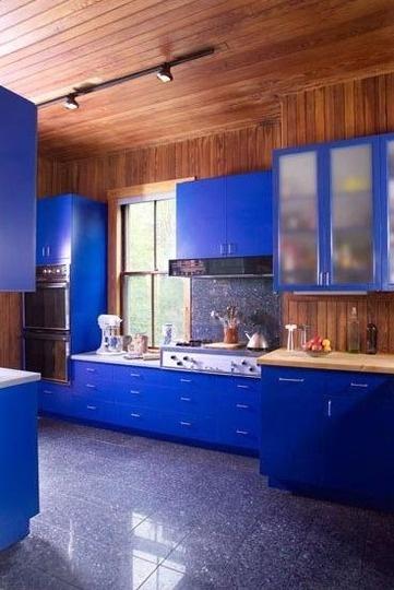 Cobalt BlueGrey Walls, Color Inspiration, Cobalt Blue, Kitchens Ideas, Colorful Kitchens, Blue Kitchens, Colors Kitchens, Modern Kitchens, Kitchen Walls