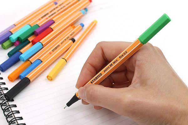 Stabilo Point 88 Mini Fineliner Marker Pen - 0.4 mm - 18 Color Set - Sporty