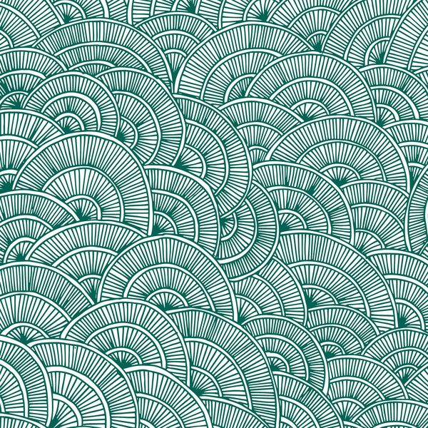 Swirls Green Canvas Print