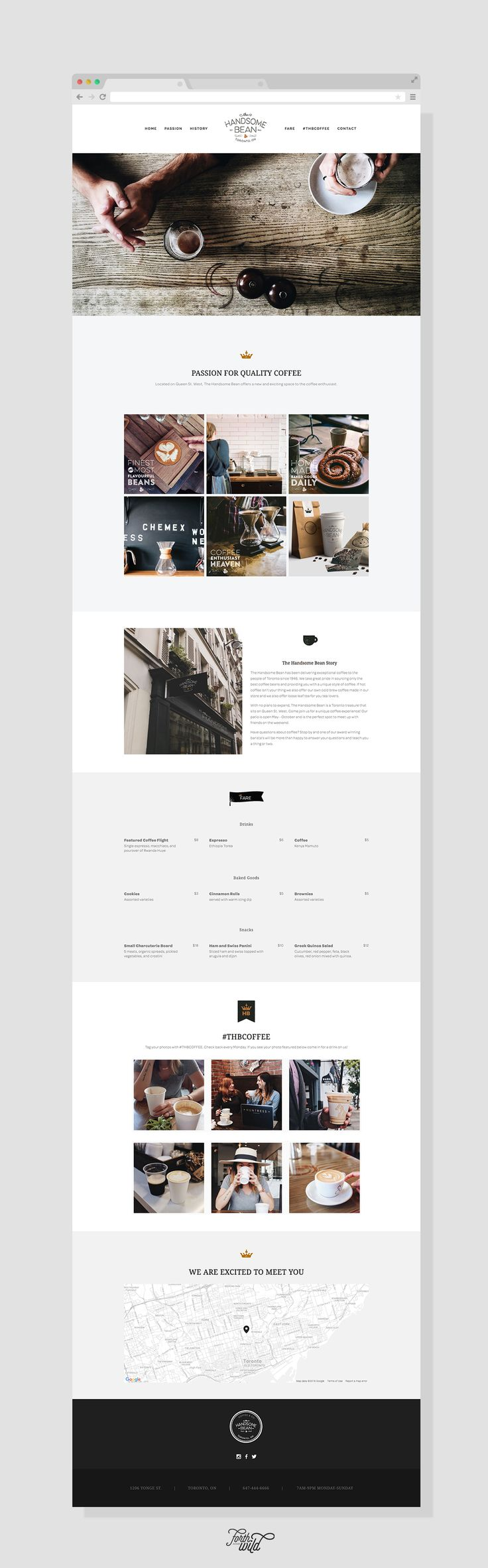 The Handsome Bean Website Design | Pinned By Www.koenvandieren.com
