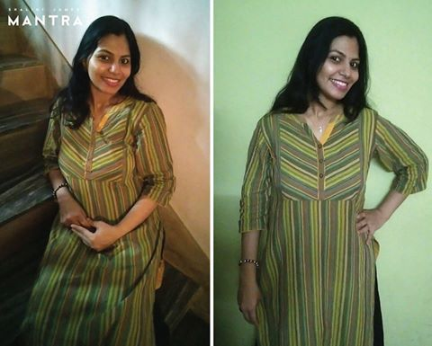 We're proudly showing off happy customer Soumya, in one of our designs! Thank you Soumya for thoughtfully sending us these lovely photographs! #MantraFamily #ShaliniJamesMantra #Mantra