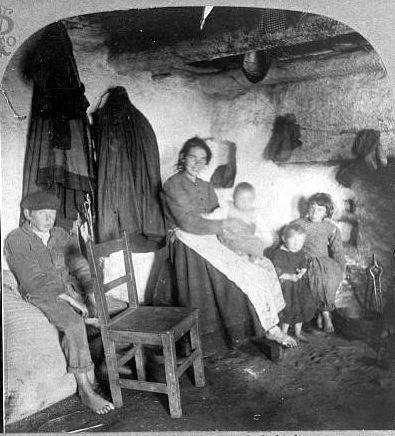 Inside an Irish cabin (location unknown) 1904