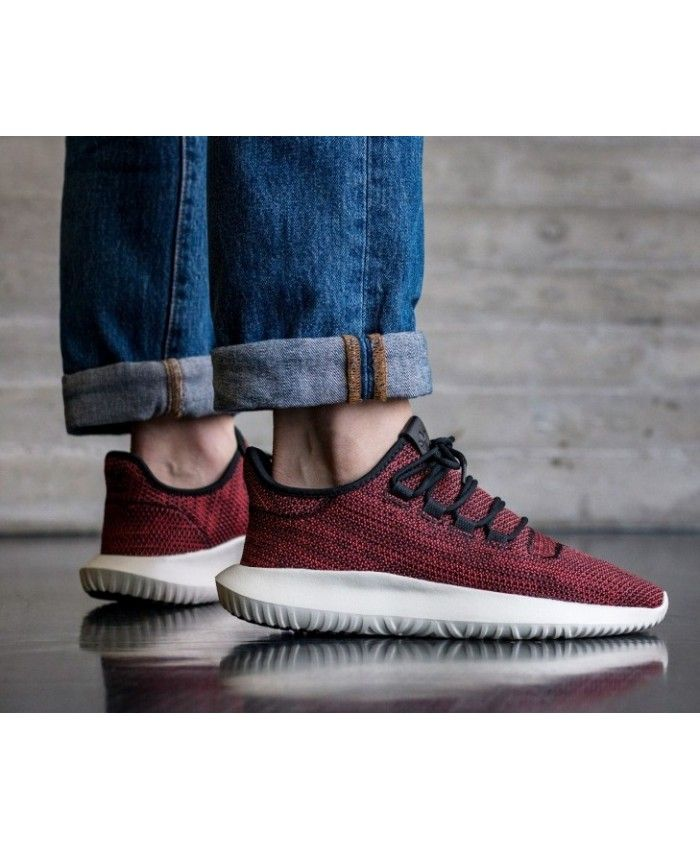 e434dc6d384fed Adidas Tubular Shadow Core Black Red White Trainers