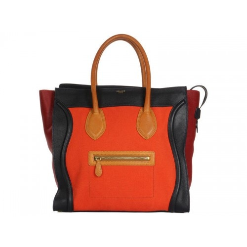 Céline Multi-Colored Leather and Canvas Luggage Tote Bag #PorteroPinToWin
