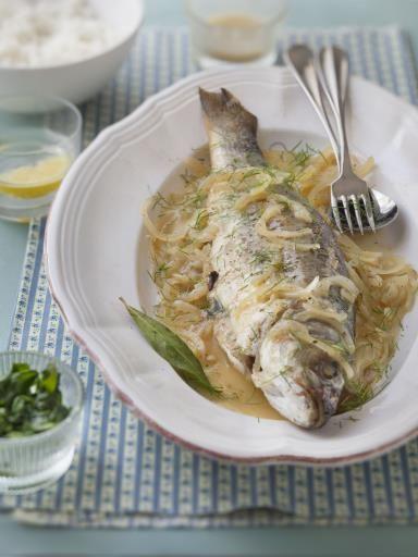 Les 25 meilleures id es de la cat gorie bar poisson sur - Cuisiner poisson blanc ...