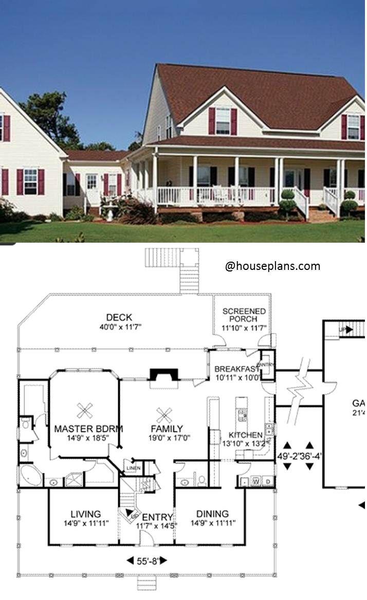 Modern Family Home Plans 4 Bedroom 3 5 Bath Ideas Modern Familyhome Homeplans 4bedroom 3 5bath House Plans House Plans Farmhouse Family House Plans