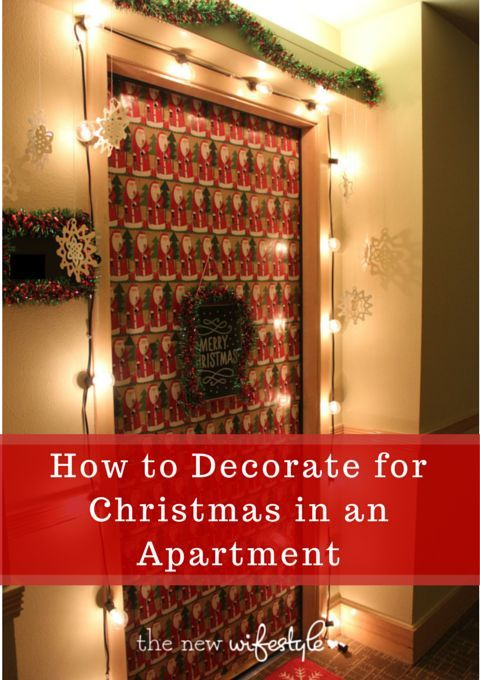 How to Decorate for Christmas in an Apartment - great tips for small spaces!