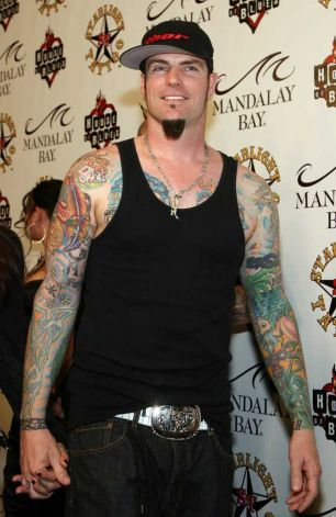 "Music artist Rob ""Vanilla Ice"" Van Winkle arrives at the grand opening of Mario Barth's Starlight Tattoo at House of Blues Las Vegas"