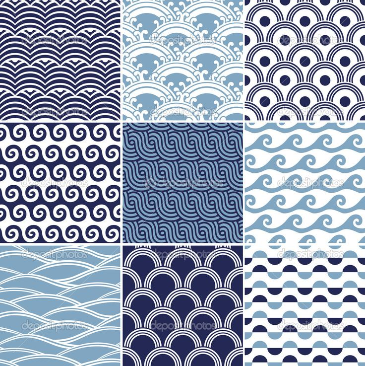 Ocean Pattern Seamless ocean wave pattern
