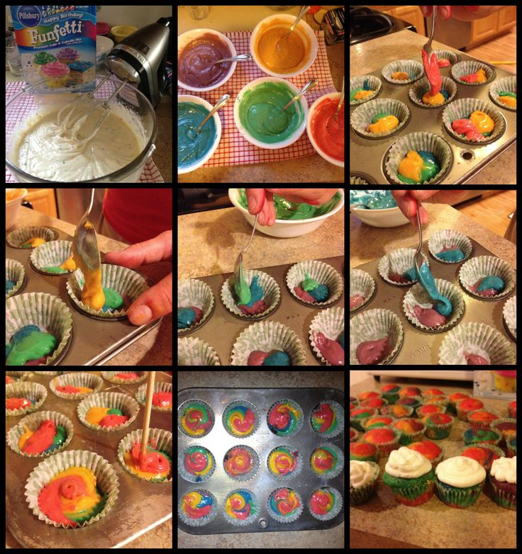 1000 Images About Rainbow Swirl Cakes On Pinterest