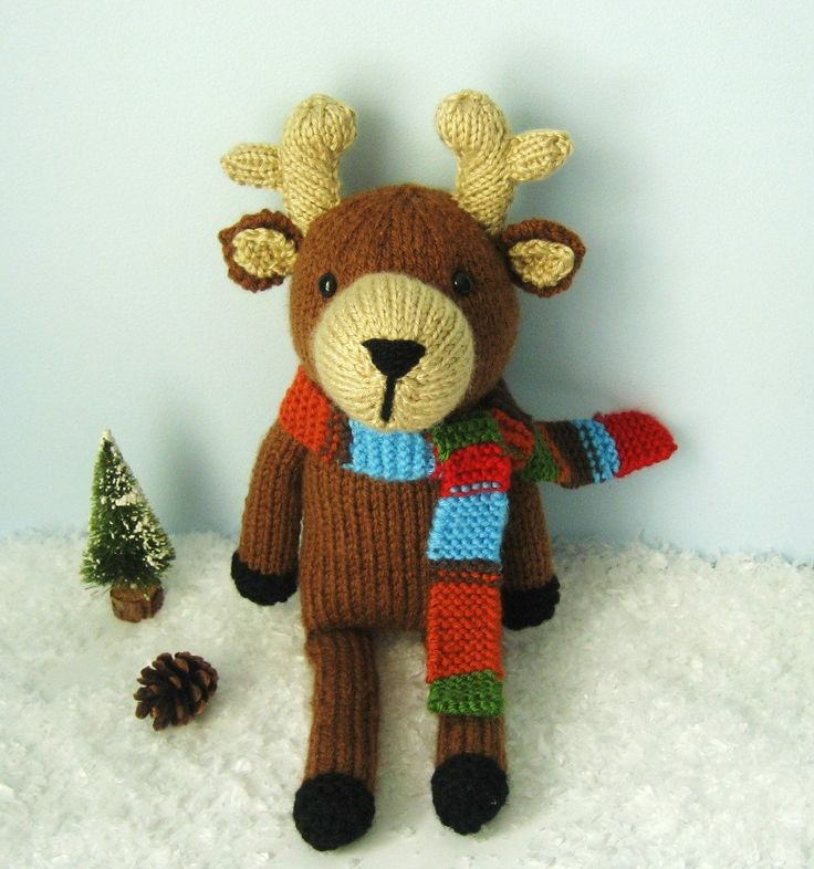 73 best christmas patterns images on pinterest boy doll merry amigurumi knit reindeer pattern digital download dt1010fo