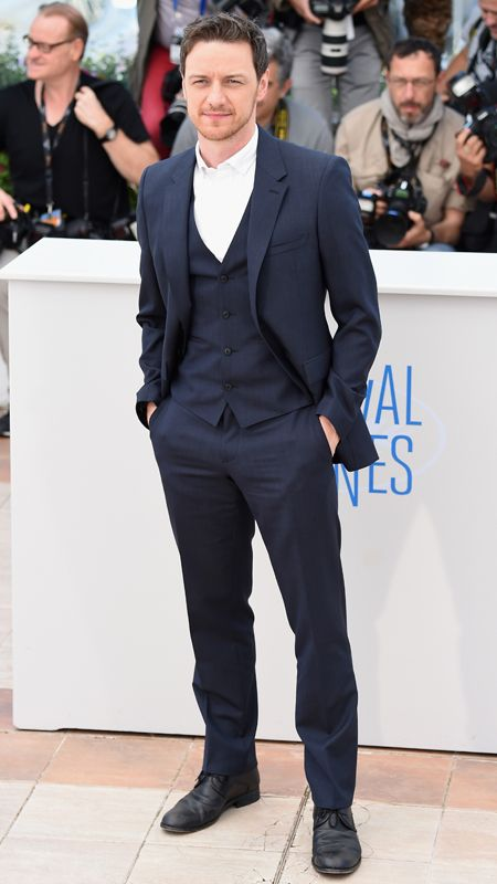 Love his suit!!/ The Most Dapper Men of the 2014 Cannes Film Festival - James McAvoy from #InStyle
