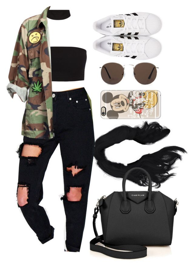19 June, 2016 by jamilah-rochon on Polyvore featuring Boohoo, adidas Originals, Givenchy, Casetify and MANGO