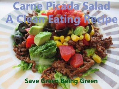 Slow Cooker Saturday: Carne Picada Salad  #slowcooker #crockpot #eatclean #cleaneating