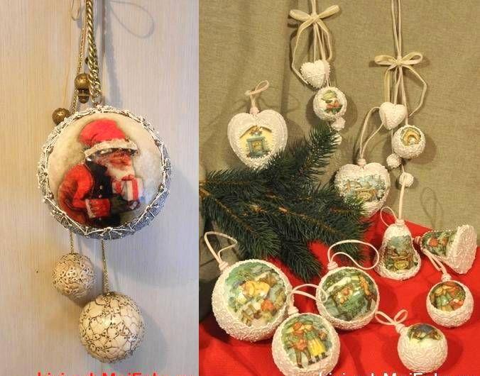 Подарок любителям декупажа-бесплатный МК по декору ёлочных шаров - Ярмарка Мастеров - ручная работа, handmade