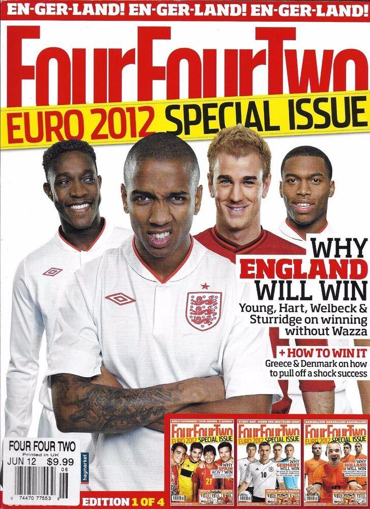 Four Four Two soccer magazine Euro England Matthias Sammer Zinedine Zidane Xavi