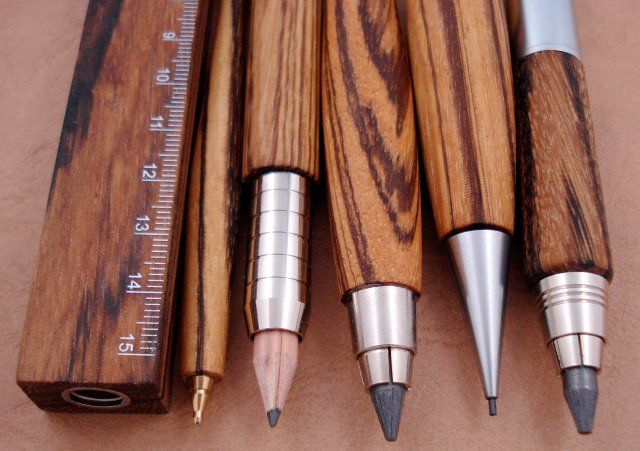 Zebrano wood writing tools
