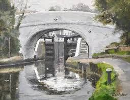 charles hardaker a brigge that shows a gate of a lock though it