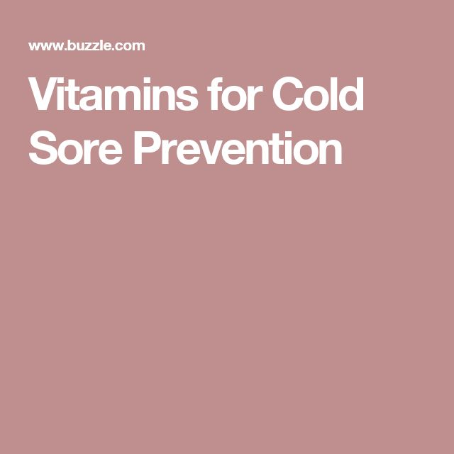 Vitamins for Cold Sore Prevention
