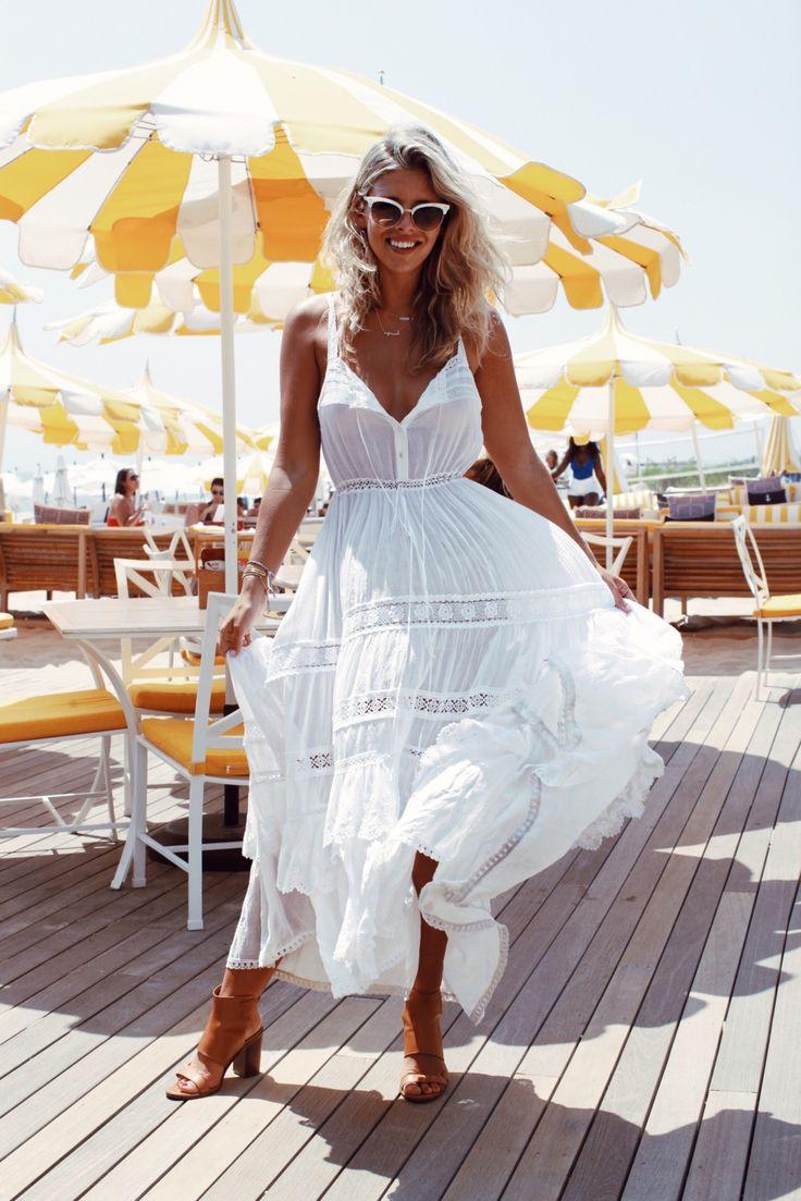 Casual flowy white dress fashion style 2015 - Fashion And Lifestyle Blog By Natasha Oakley
