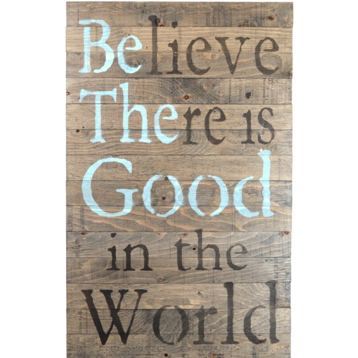 Crate Sign 'Be The Good' by Denise Walsh Textual Art on Plaque
