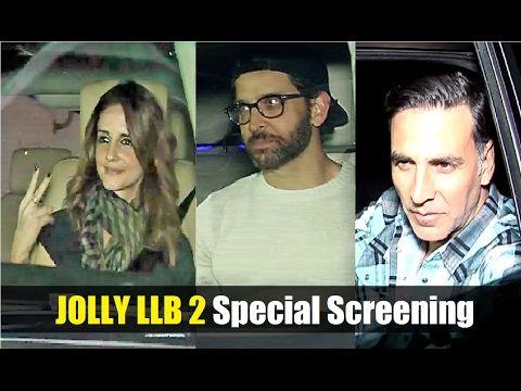 JOLLY LLB 2 Special Screening | Hrithik Roshan, Akshay Kumar.  Click here to see the full video > https://youtu.be/7afU-k7SrYk  #jollyllb2 #hrithikroshan #akshaykumar #bollywood #bollywoodnews #bollywoodnewsvilla