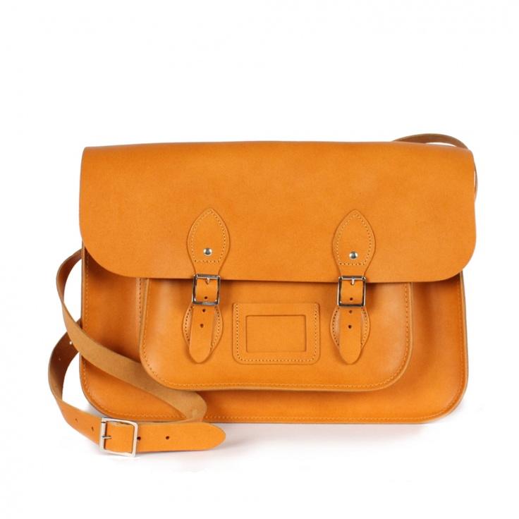 $99 Sac leather satchel 12,5 de chez Bohemia. Pour un look vintage et moderne à la fois.Dispo en rose, marron, caramel.