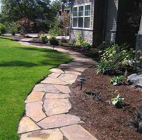 Lovely edging you can mow up to, easy to groom with a string trimmer. Lots of nice landscaping ideas here.