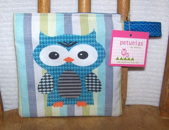 Reusable Little Snack Bag  pouch kids adults eco by PETUNIAS