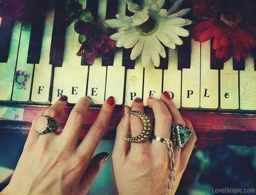 free people quotes music quote flowers pretty piano