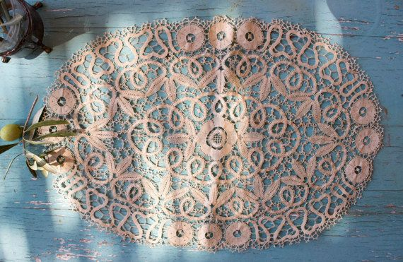 Vintage Lace Doily Placemat Table Runner by BelladonaVintage