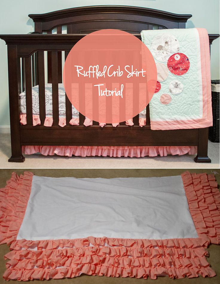 Even tough my baby's crib has thicker bottom rail I was set on making her a pretty ruffled crib skirt. I love it! It is great for hiding extra packs of diapers and wipes under the crib.  Here is my...