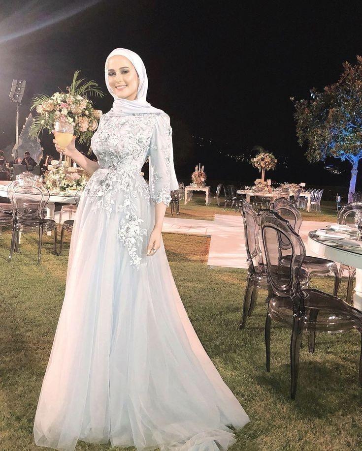 Hijab Evening Dress Hijab Evening Dresses 2020 In 2020 Hijab Evening Dress Hijab Dress Party Hijab Wedding Dresses