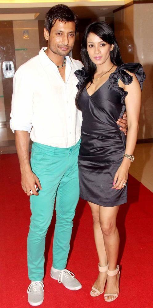 Indraneil Sengupta with wife Barkha Bisht at Aanchal Kumar's wedding bash. #Bollywood #Fashion #Style