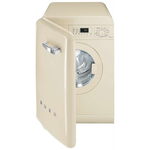 BuySmeg WMFABCR-2 Slim Depth Freestanding Washing Machine, 7kg Load, A++ Energy Rating, 1400rpm Spin, Cream Gloss Online at johnlewis.com