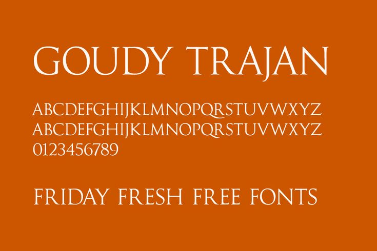 Goudy Trajan font (free version) - roman style, all caps, on fontsquirrel, no website embedding allowed (pro version has alternates, swaches etc)