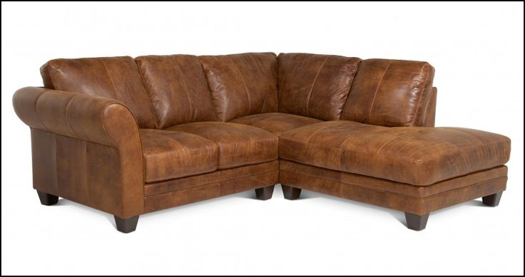 Small Brown Leather Corner sofa