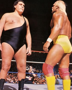 15. WWF Wrestling... Hulk Hogan & Andre the Giant (plus hel-lo, Princess Bride!!!) #kickinitAppleCheeks
